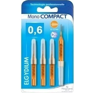 ELGYDIUM Clinic Mono Compact Μεσοδόντεια βουρτσάκια 4 τμχ – 0.6