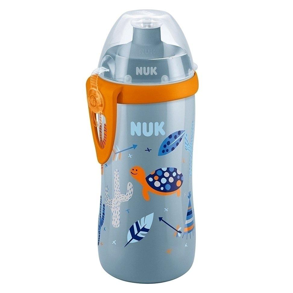 Nuk Παγουράκι Junior Cup με Καπάκι Push-Pull 36Μηνών+ , 300ml – γκρι