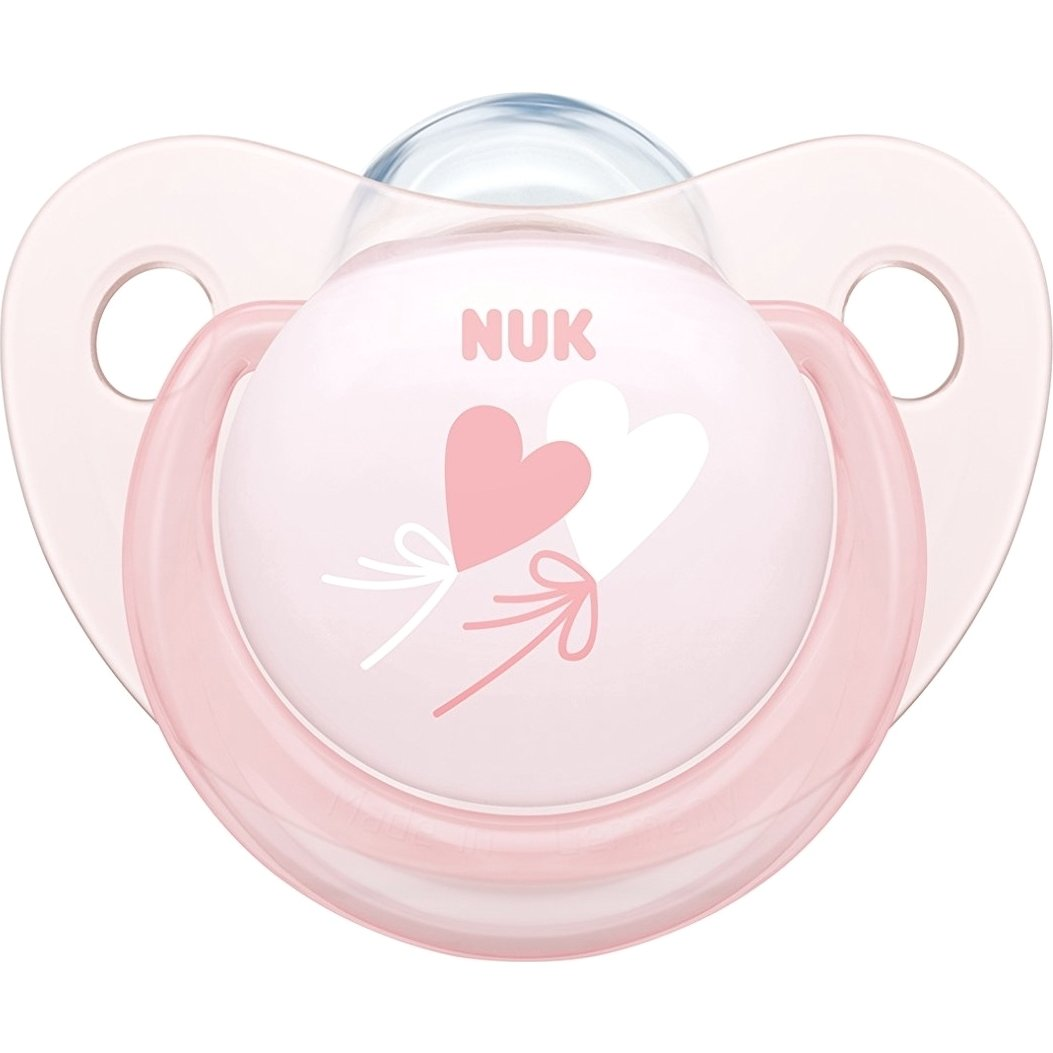 Nuk Baby Rose & Blue Πιπίλα Σιλικόνης με Κρίκο 1τεμάχιο – Baby Rose2 6-18 Μηνών