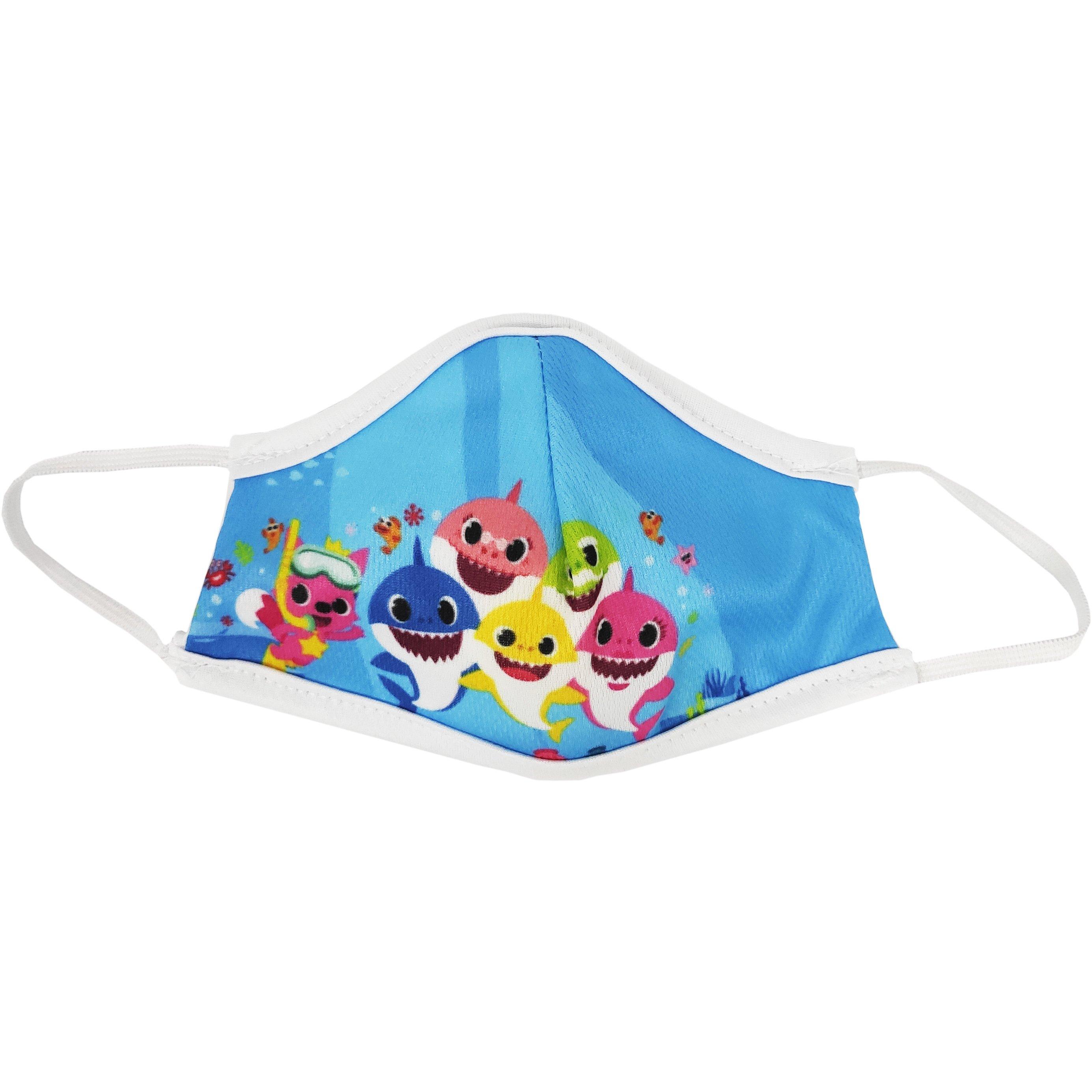 Μάσκα Προστασίας Προσώπου Υφασμάτινη Πολλαπλών Χρήσεων για Παιδιά 1 Τεμάχιο – Baby Shark