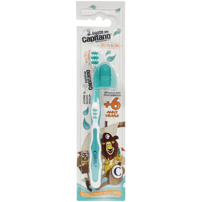 Pasta Del Capitano Junior Toothbrush Παιδική Οδοντόβουρτσα Από 6 Ετών 1 Τεμάχιο – άσπρο