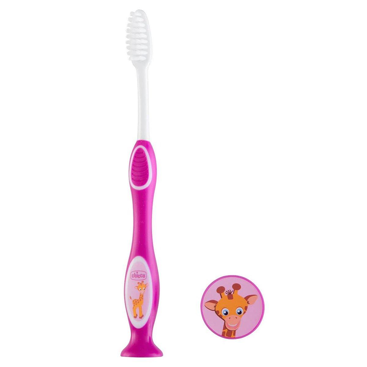 Chicco Milk Teeth Toothbrush 3-6 Years Παιδική Οδοντόβουρτσα Ιδανική για τα Πρώτα Νεογιλά Δόντια 1 Τεμάχιο – μωβ