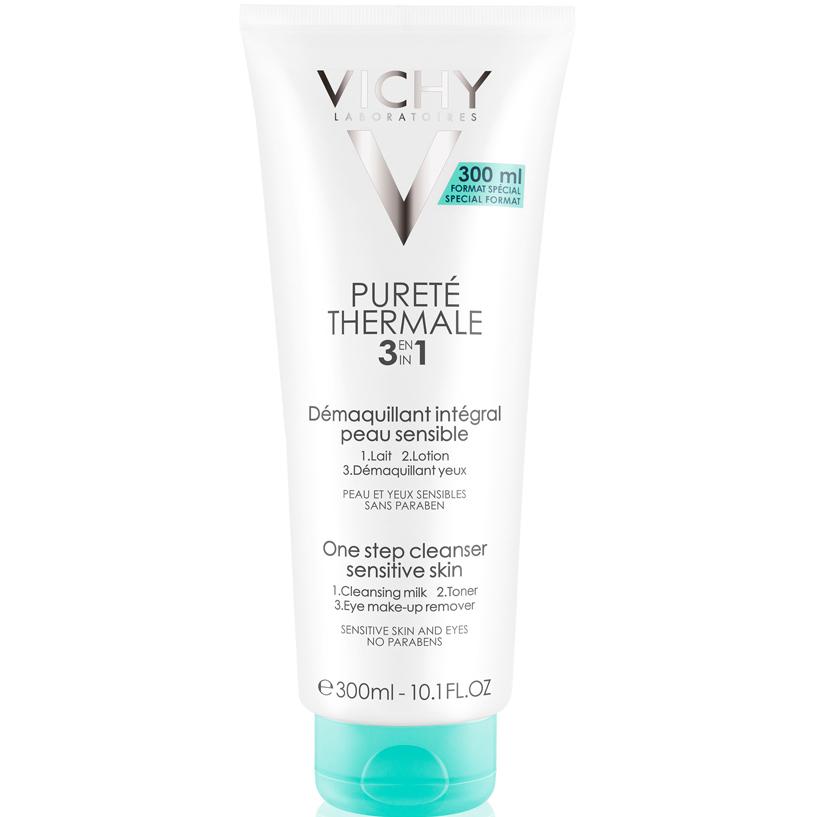 Vichy Purete Thermale Integral Γαλάκτωμα Καθαρισμού, Τονωτική Λοσιόν & Ντεμακιγιάζ Ματιών 3 σε1 – 300ml