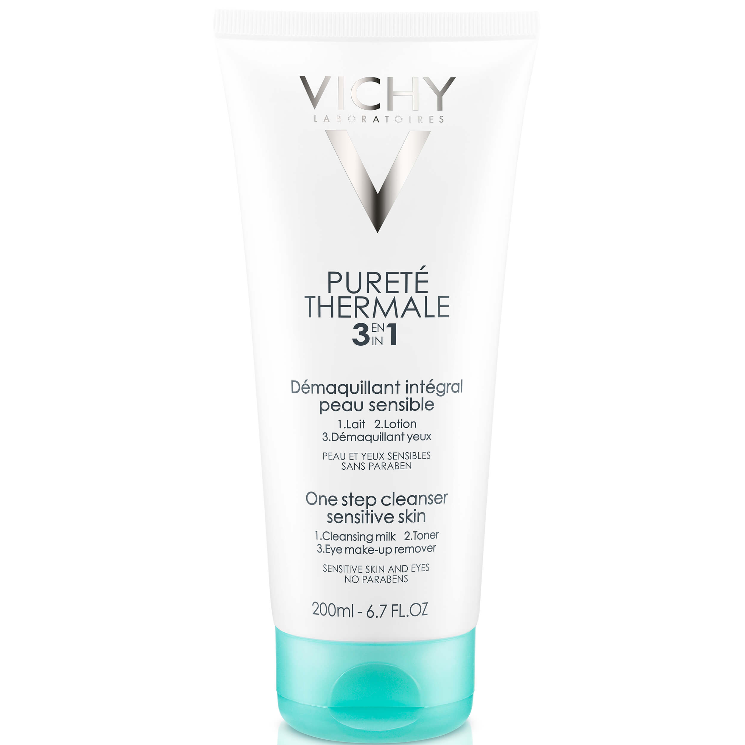 Vichy Purete Thermale Integral Γαλάκτωμα Καθαρισμού, Τονωτική Λοσιόν & Ντεμακιγιάζ Ματιών 3 σε1 – 200ml