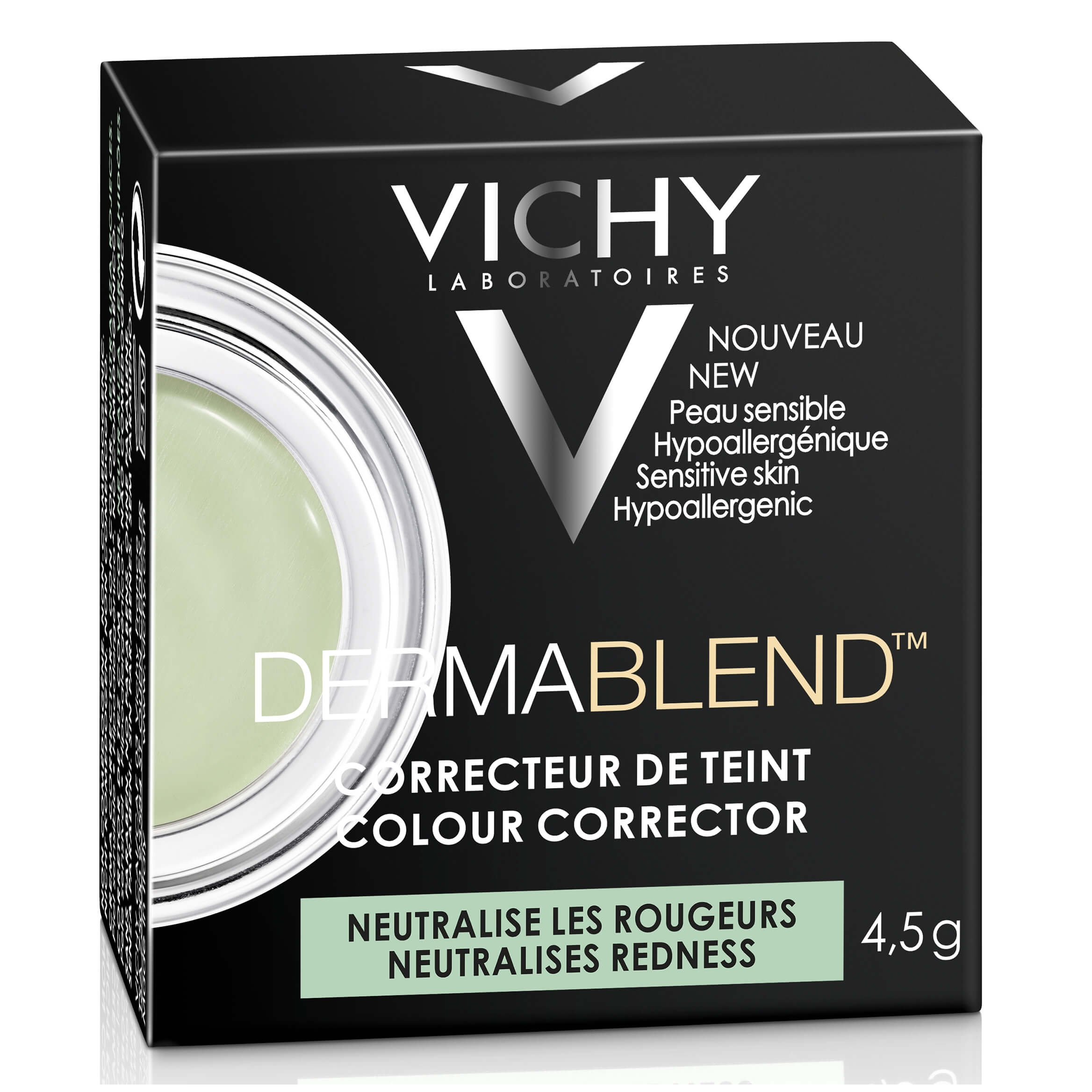 Vichy Dermablend Colour Corrector Εξουδετερώνει τις Ατέλειες στο Χρώμα του Δέρματος και Δημιουργεί μια Ομοιόμορφη Όψη 4,5g – Green