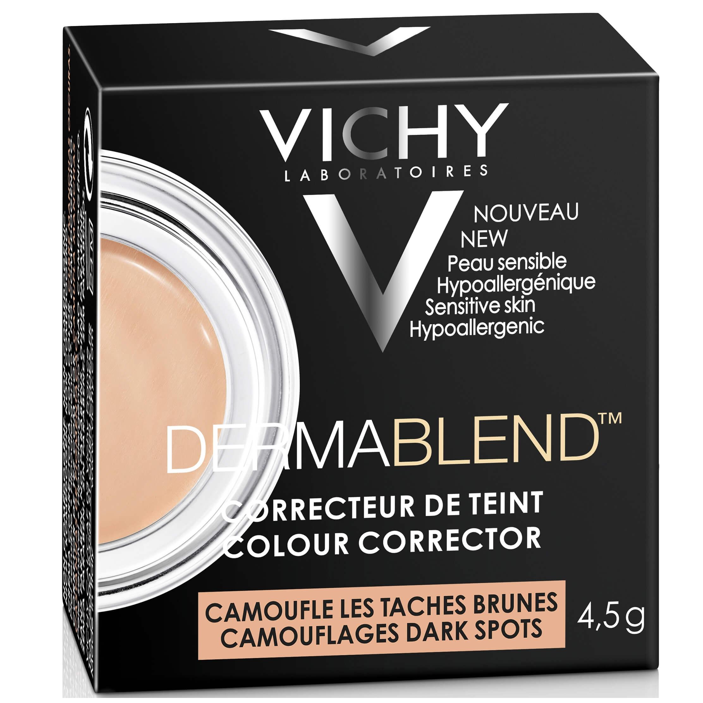 Vichy Dermablend Colour Corrector Εξουδετερώνει τις Ατέλειες στο Χρώμα του Δέρματος και Δημιουργεί μια Ομοιόμορφη Όψη 4,5g – Apricot