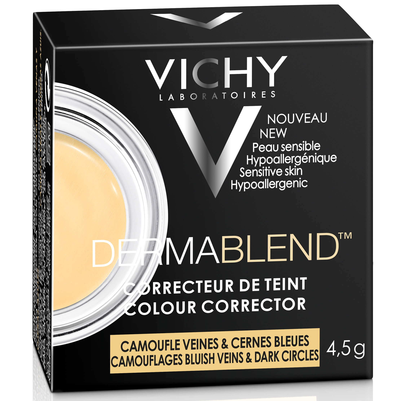 Vichy Dermablend Colour Corrector Εξουδετερώνει τις Ατέλειες στο Χρώμα του Δέρματος και Δημιουργεί μια Ομοιόμορφη Όψη 4,5g – Yellow