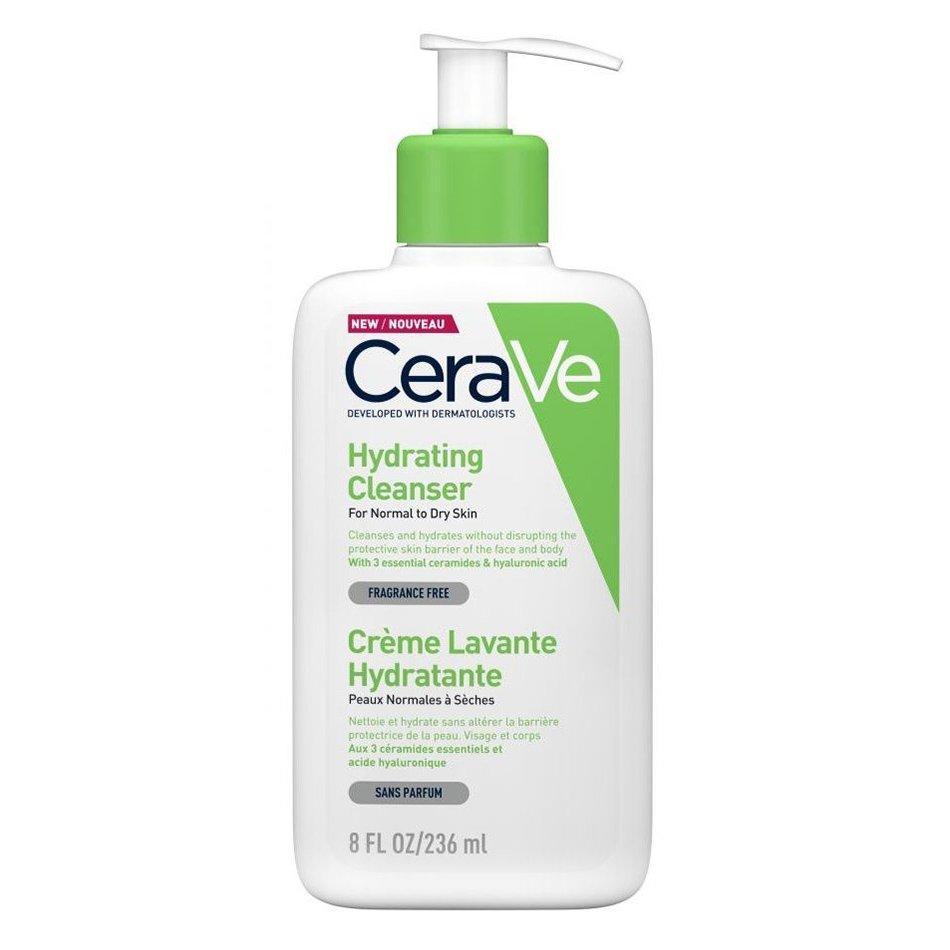 CeraVe Hydrating Cleanser Ενυδατική Κρέμα Καθαρισμού Προσώπου & Σώματος για Κανονική – Ξηρή Επιδερμίδα – 236ml