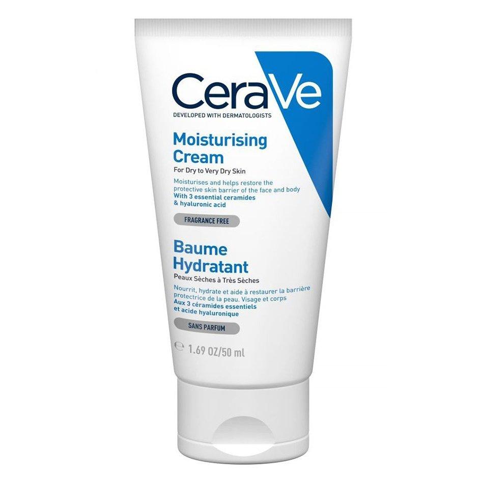 CeraVe Moisturising Cream Ενυδατική Κρέμα – Βάλσαμο Προσώπου & Σώματος για Ξηρή – Πολύ Ξηρή Επιδερμίδα – 50ml