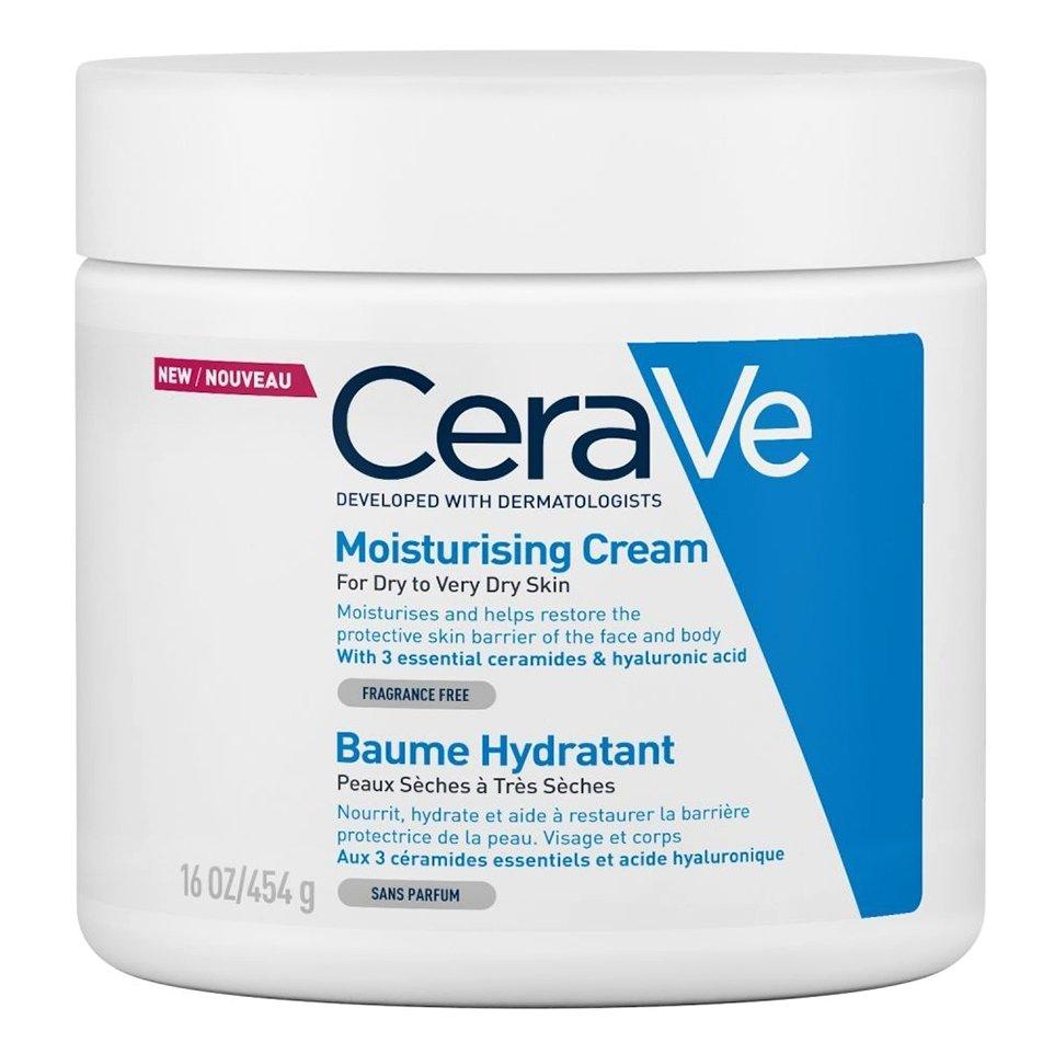 CeraVe Moisturising Cream Ενυδατική Κρέμα – Βάλσαμο Προσώπου & Σώματος για Ξηρή – Πολύ Ξηρή Επιδερμίδα – 454gr