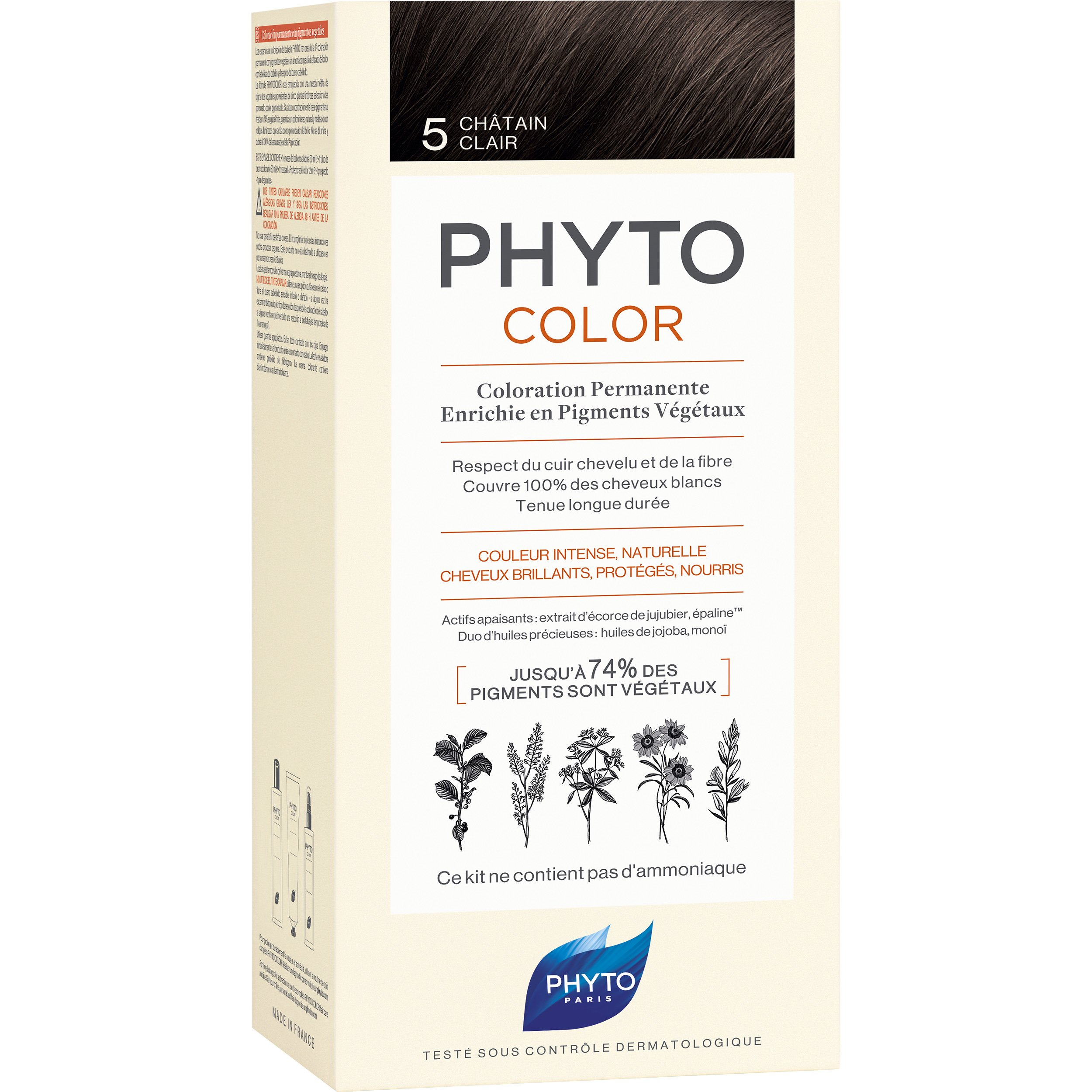 Phyto PhytoColor Coloration Permanente η No1 Μόνιμη Βαφή Μαλλιών Χωρίς Χρωστικές Ουσίες & Αμμωνία – 5 Καστανό Ανοιχτό