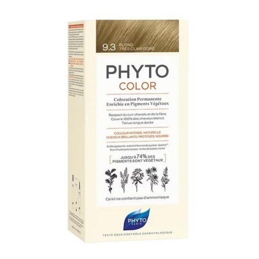 Phyto PhytoColor Coloration Permanente η No1 Μόνιμη Βαφή Μαλλιών Χωρίς Χρωστικές Ουσίες & Αμμωνία – 9.3 Ξανθό Πολύ Ανοιχτό Χρυσό