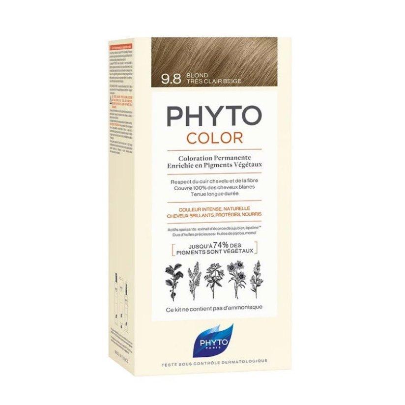 Phyto PhytoColor Coloration Permanente η No1 Μόνιμη Βαφή Μαλλιών Χωρίς Χρωστικές Ουσίες & Αμμωνία – 9.8 Ξανθό Πολύ Ανοιχτό Μπεζ