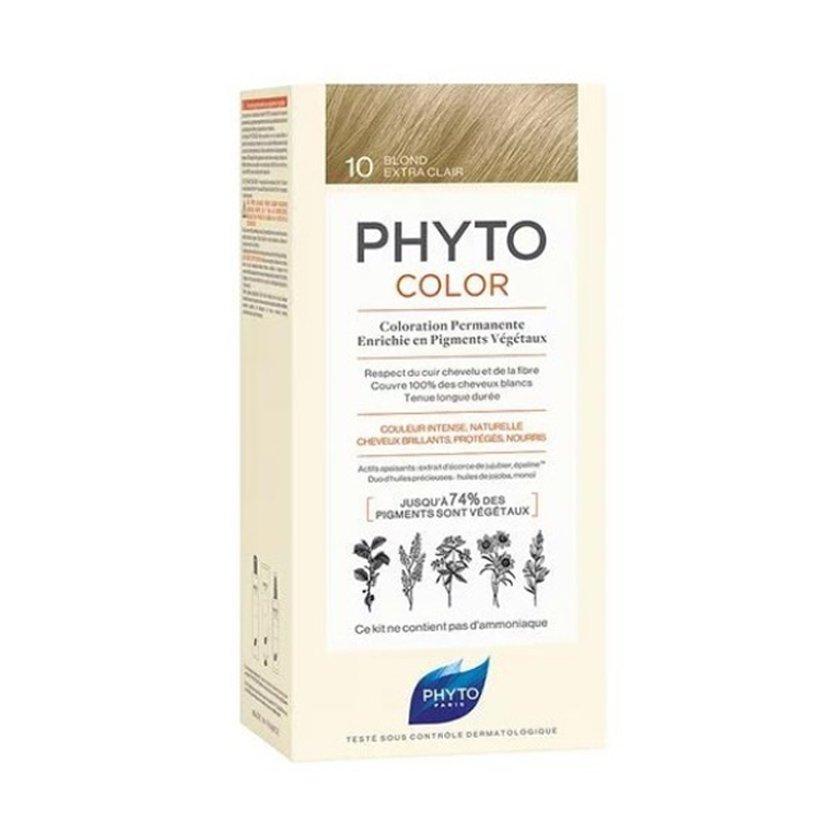 Phyto PhytoColor Coloration Permanente η No1 Μόνιμη Βαφή Μαλλιών Χωρίς Χρωστικές Ουσίες & Αμμωνία – 10 Κατάξανθο Πλατινέ