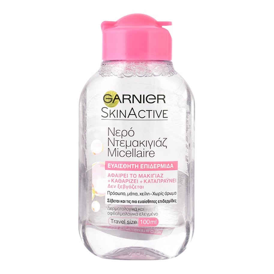 Garnier Skin Active Micellaire Cleansing Water 3 in 1 Νερό Ντεμακιγιάζ για Πρόσωπο Μάτια Χείλη για Ευαίσθητες Επιδερμίδες – 100ml