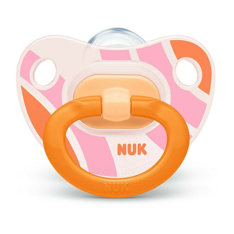 Nuk Happy Days Ορθοδοντική Πιπίλα Σιλικόνης 1 τεμάχιο – 18-36 Μηνών Πορτοκαλί