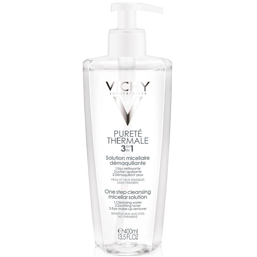Vichy Purete Thermale Λοσιόν Καθαρισμού Προσώπου Και Ματιών 3 Σε 1 Για Ευαίσθητη Επιδερμίδα – 400ml