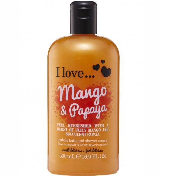 I love… Bath & Shower Creme Ενυδατικό Αφρόλουτρο 500ml – Mango & Papaya