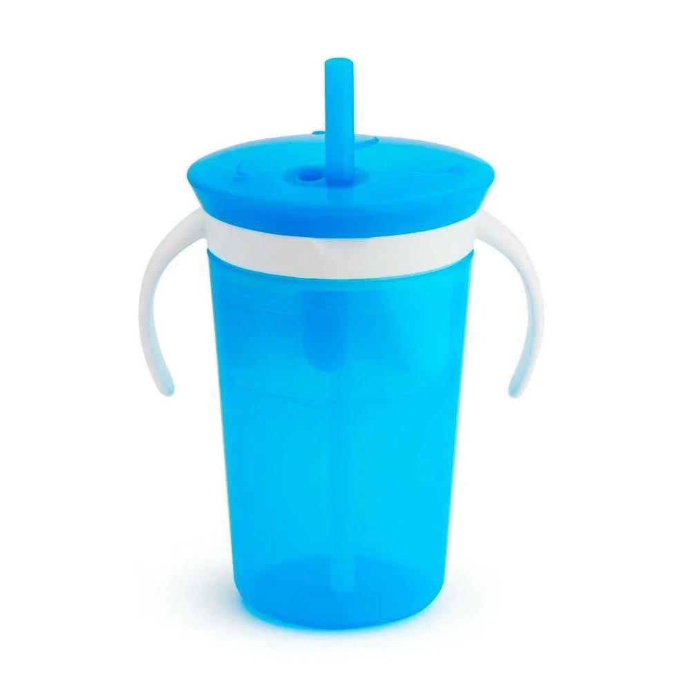 Munchkin Sippy Snack Cup Pink Ποτήρι 225ml & Πιατάκι 110ml – γαλάζιο