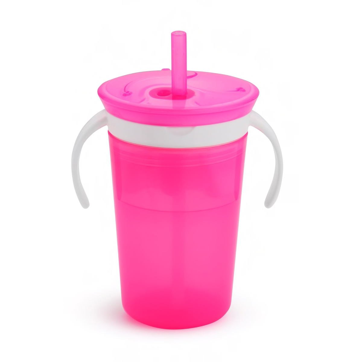 Munchkin Sippy Snack Cup Pink Ποτήρι 225ml & Πιατάκι 110ml – ροζ
