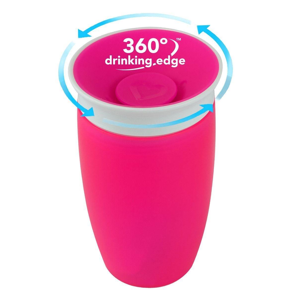 Munchkin Sippy Cup Παιδικό Κύπελλο Miracle 360° 12m+, 296ml – φούξια