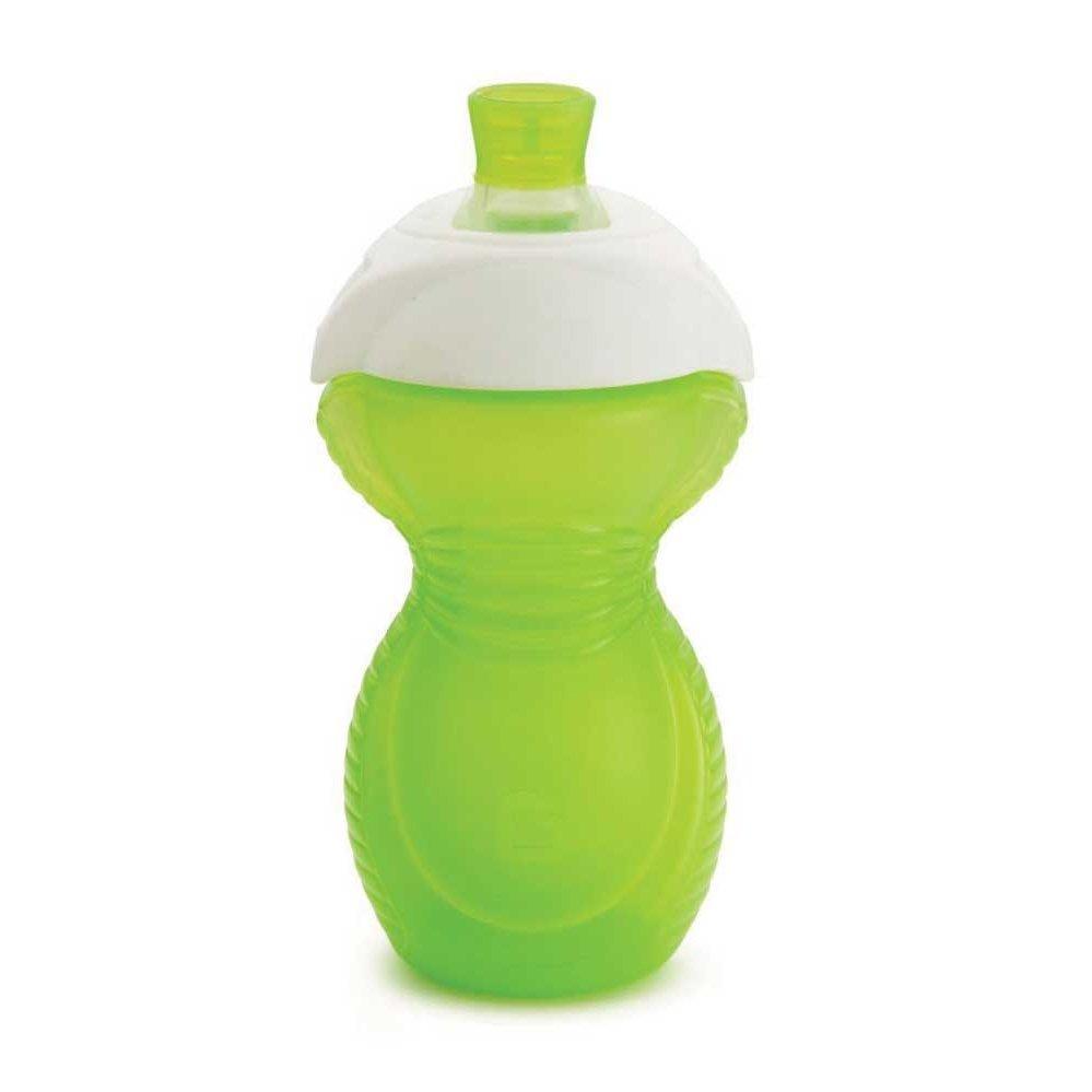 "Munchkin Παιδικό Κύπελλο με ""Click-lock"" Σχεδιασμό και Καπάκι Σλικόνης 1τμχ – πράσινο"