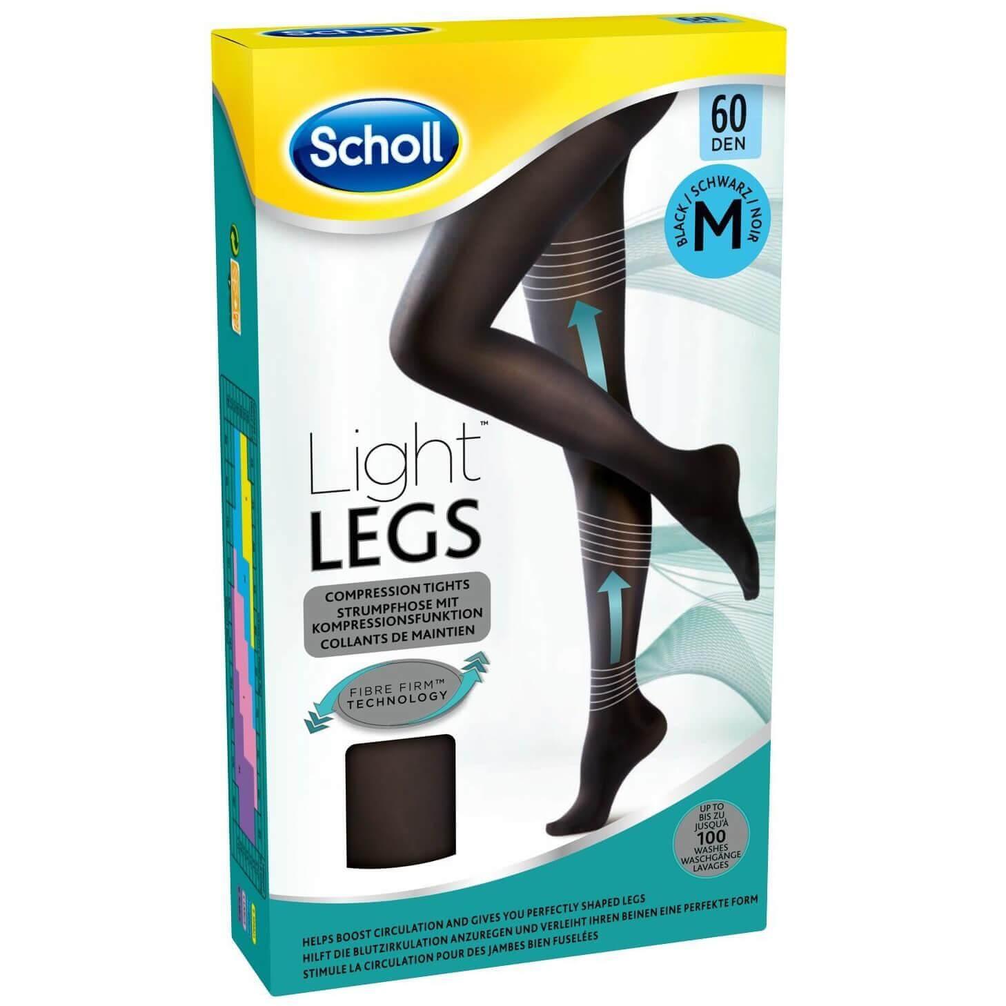 Dr Scholl Light Legs 60 DEN Noir Καλσόν Διαβαθμισμένης Συμπίεσης με Τεχνολογία Fibre Firm σε Μαύρο Χρώμα – M