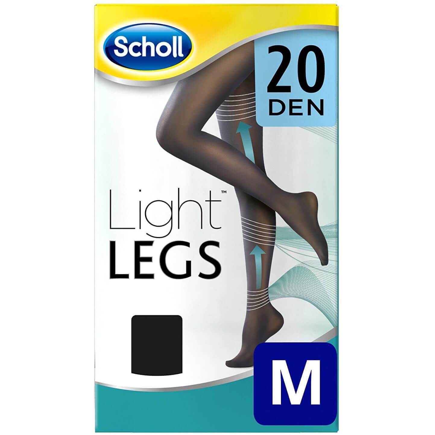 Dr Scholl Light Legs 20 DEN Noir Καλσόν Διαβαθμισμένης Συμπίεσης με Τεχνολογία Fibre Firm σε Μαύρο Χρώμα – M