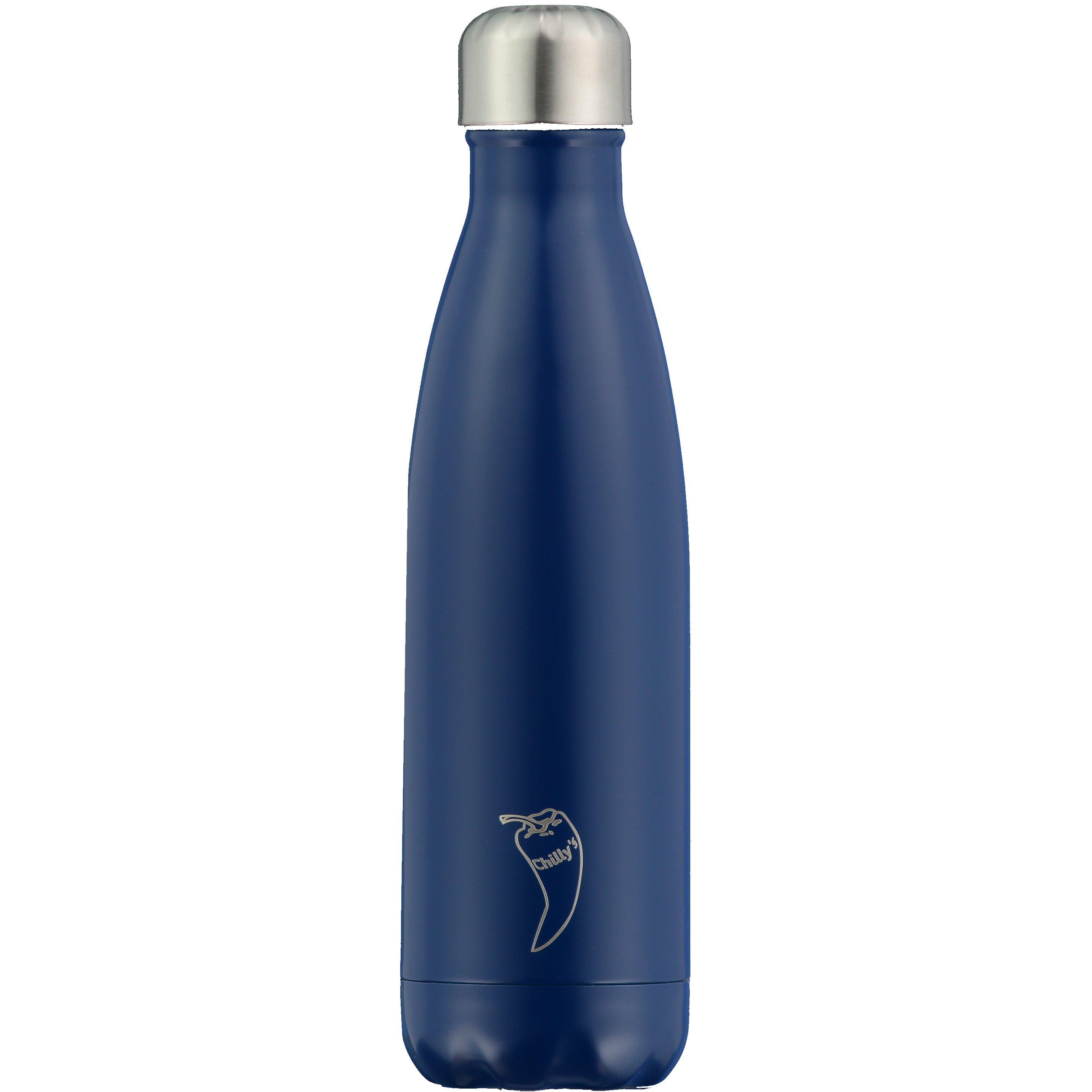 Chilly's Bottle Ανοξείδωτο Θερμός 500ml – Μπλε Ματ