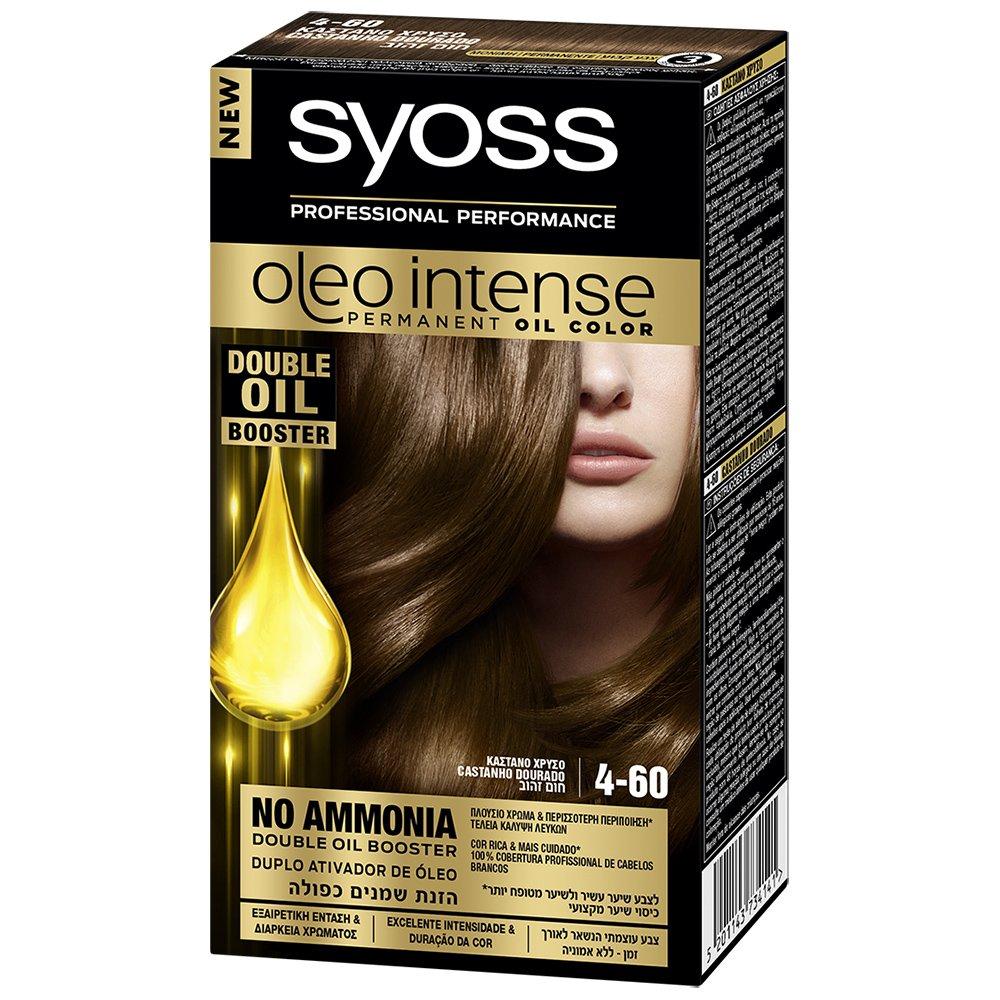 Syoss Oleo Επαγγελματική Μόνιμη Κρέμα Βαφή – 4-60 Καστανό Χρυσό