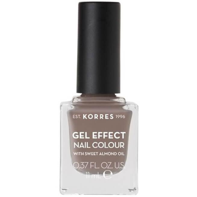 Korres Gel Effect Nail Colour Βερνίκι Νυχιών Απόλυτης Λάμψης & Διάρκειας, με Αμυγδαλέλαιο 11ml – Stone Grey 95