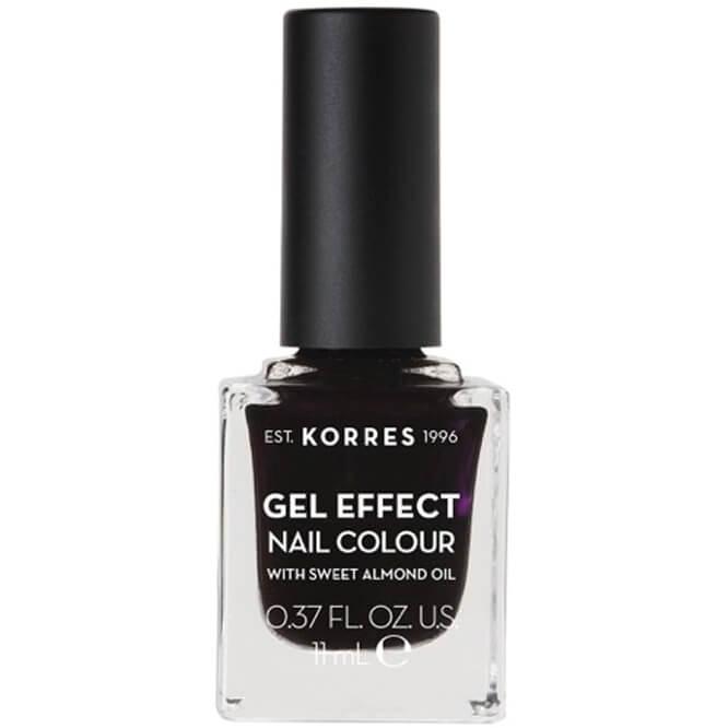Korres Gel Effect Nail Colour Βερνίκι Νυχιών Απόλυτης Λάμψης & Διάρκειας, με Αμυγδαλέλαιο 11ml – Smokey Plum 76