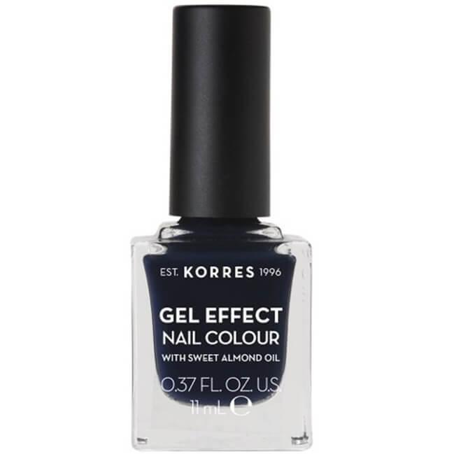 Korres Gel Effect Nail Colour Βερνίκι Νυχιών Απόλυτης Λάμψης & Διάρκειας, με Αμυγδαλέλαιο 11ml – Steel Blue 88