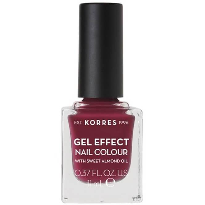 Korres Gel Effect Nail Colour Βερνίκι Νυχιών Απόλυτης Λάμψης & Διάρκειας, με Αμυγδαλέλαιο 11ml – Berry Addict 74