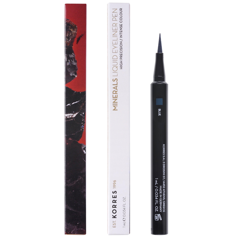 Korres Minerals Liquid Eyeliner Pen Αδιάβροχο Eyeliner για Έντονο Αποτέλεσμα & Εύκολη Ακριβή Εφαρμογή 1ml – Blue 03