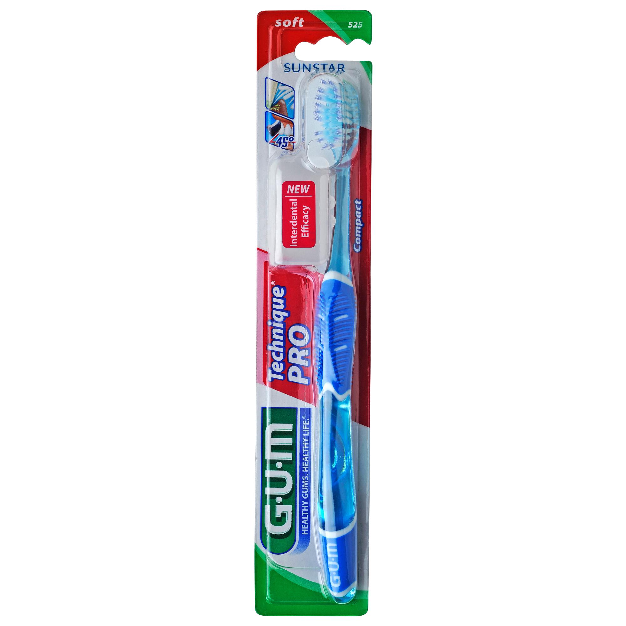 Gum Technique PRO Compact Soft Οδοντόβουρτσα με Θήκη Προστασίας (525) – μπλέ