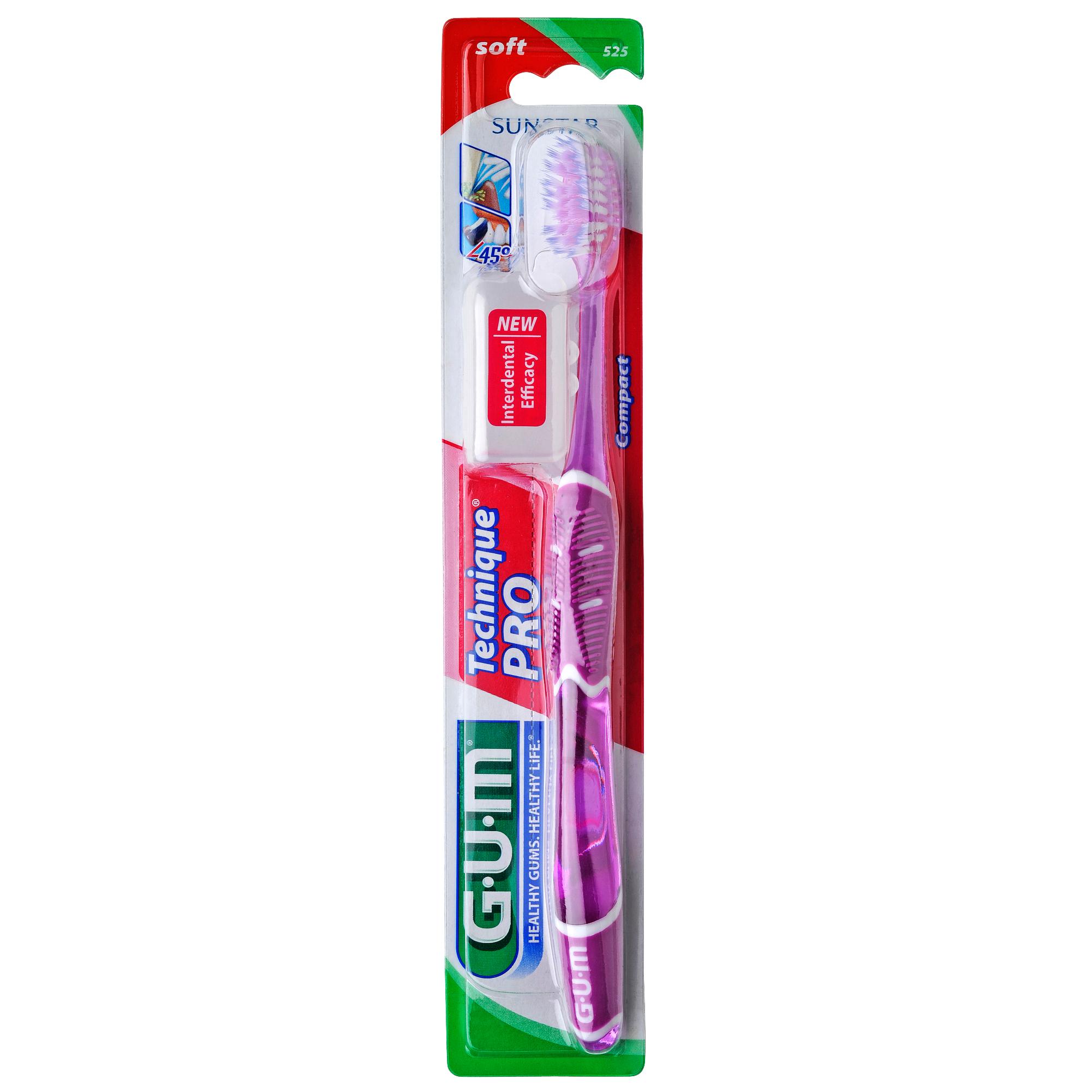 Gum Technique PRO Compact Soft Οδοντόβουρτσα με Θήκη Προστασίας (525) – μωβ