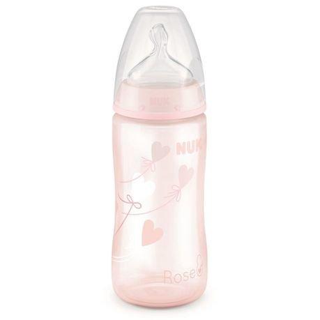 Nuk Μπιμπερό First Choice Plus Baby Rose & Blue Πλαστικό PP Με Θηλή Σιλικόνης M1 0-6Μηνών – Baby Rose 300ml