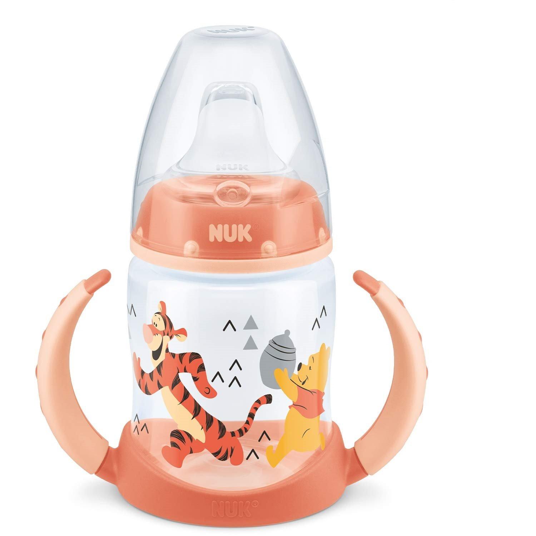Nuk First Choice Plus Disney Winnie the Pooh Μπιμπερό PP με Λαβές 6-18m με Ρύγχος Σιλικόνης 150ml – πορτοκαλί