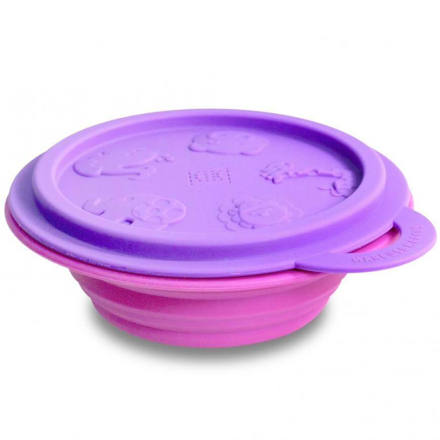 Marcus & Marcus Collapsible Bowl Μπολ Πτυσσόμενο Σιλικόνης με Καπάκι Φύλαξης - Μ μητέρα παιδί   αξεσουάρ και παιχνίδια   βρεφικά   παιδικά σετάκια φαγητού