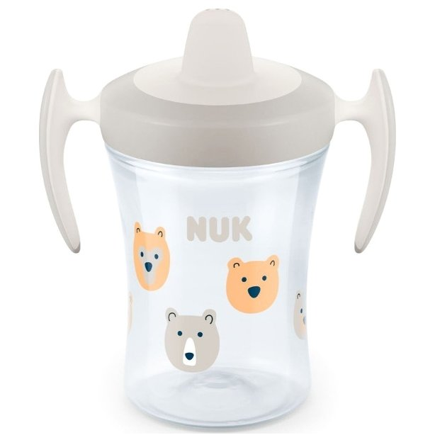 Nuk Trainer Cup με Μαλακό Ρύγχος και Χεράκια 6+ , 230ml – γκρι