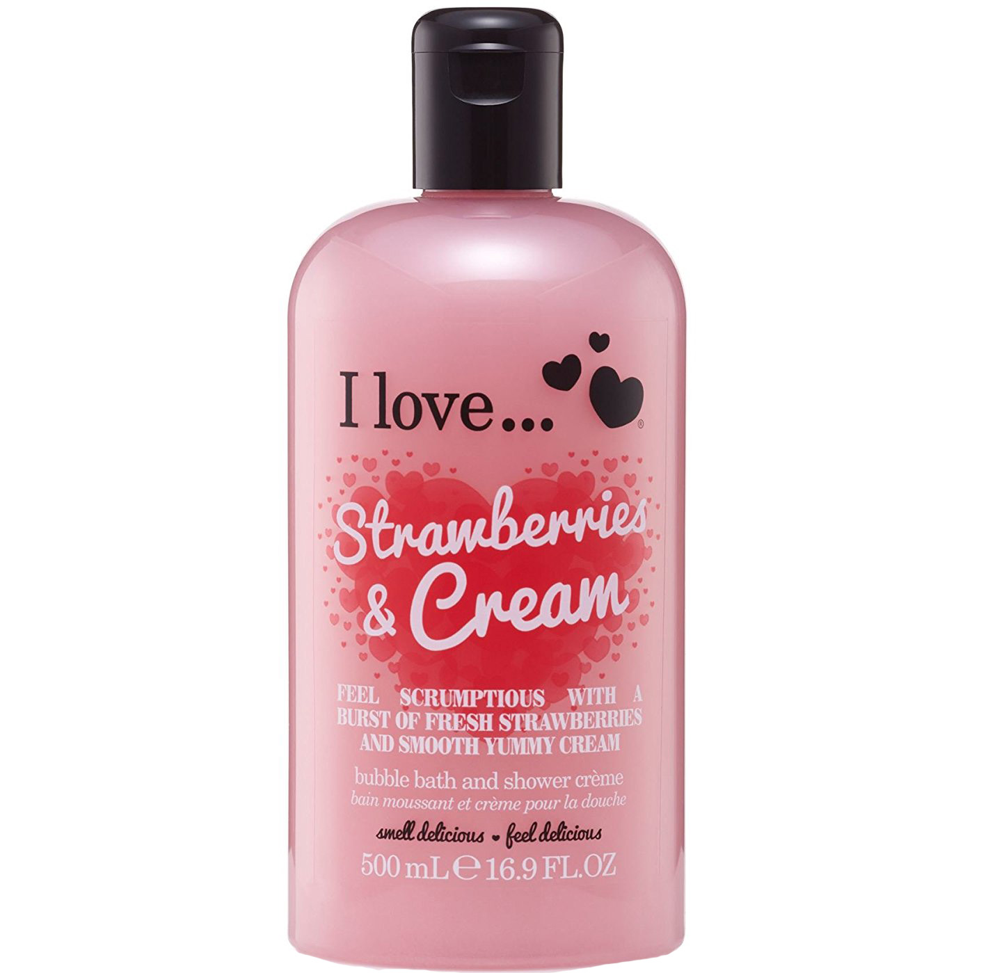 I love… Bath & Shower Creme Ενυδατικό Αφρόλουτρο 500ml – Strawberries & Cream