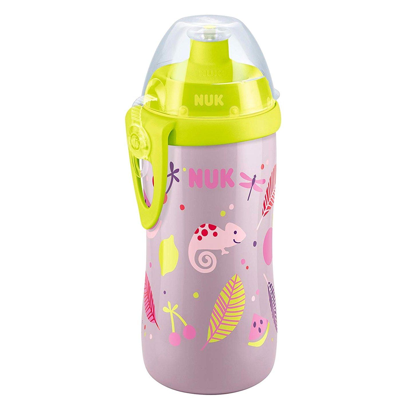 Nuk Παγουράκι Junior Cup με Καπάκι Push-Pull 36Μηνών+ , 300ml – ροζ