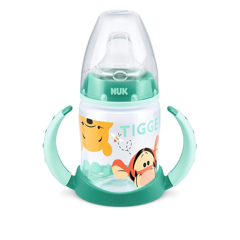 Nuk First Choice Plus Disney Winnie the Pooh Μπιμπερό PP με Λαβές 6-18m με Ρύγχος Σιλικόνης 150ml – πράσινο