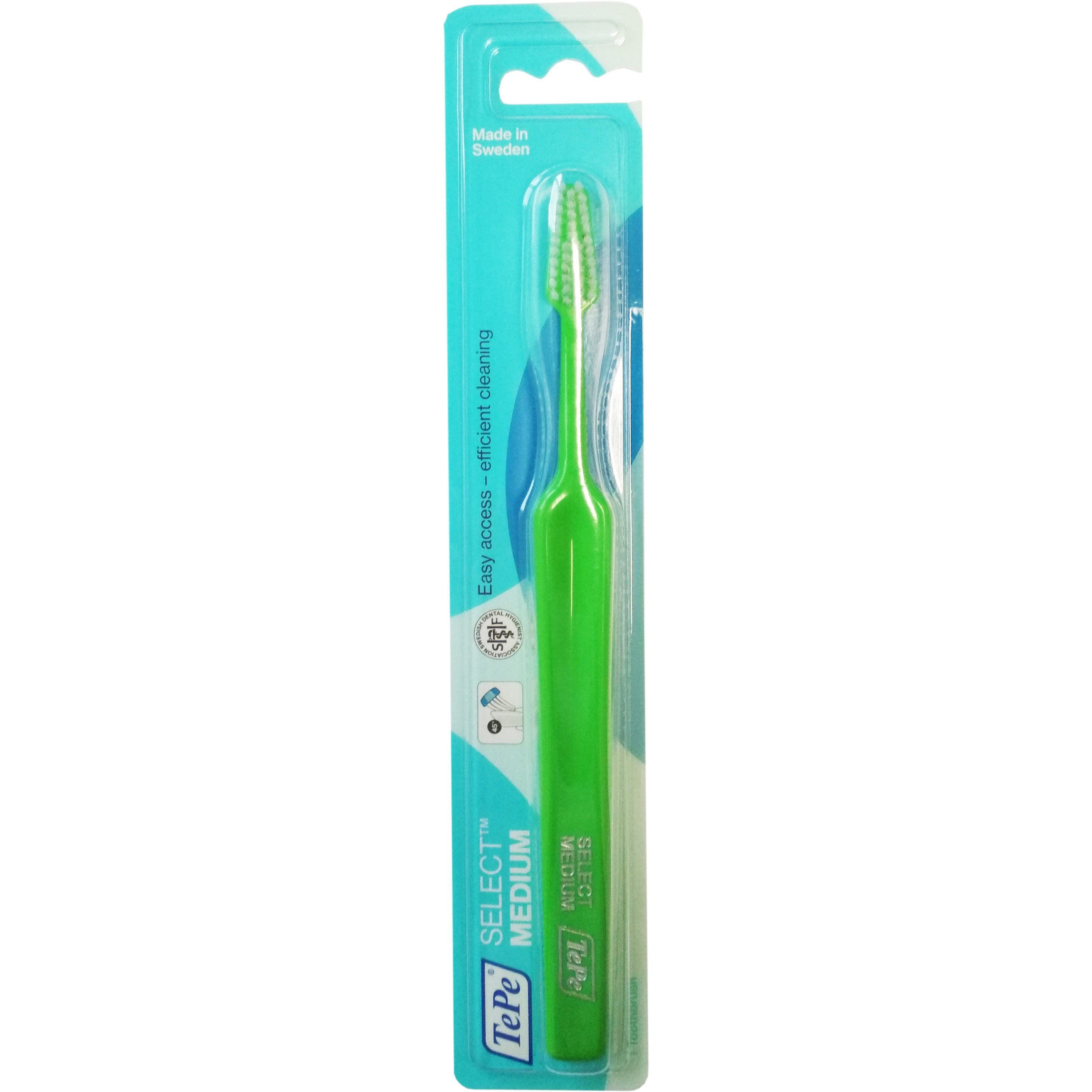 Tepe Select Medium Οδοντόβουρτσα Μέτρια για Εύκολη Πρόσβαση στα Πίσω Δόντια & Αποτελεσματικό Καθαρισμό 1 Τεμάχιο – πράσινο