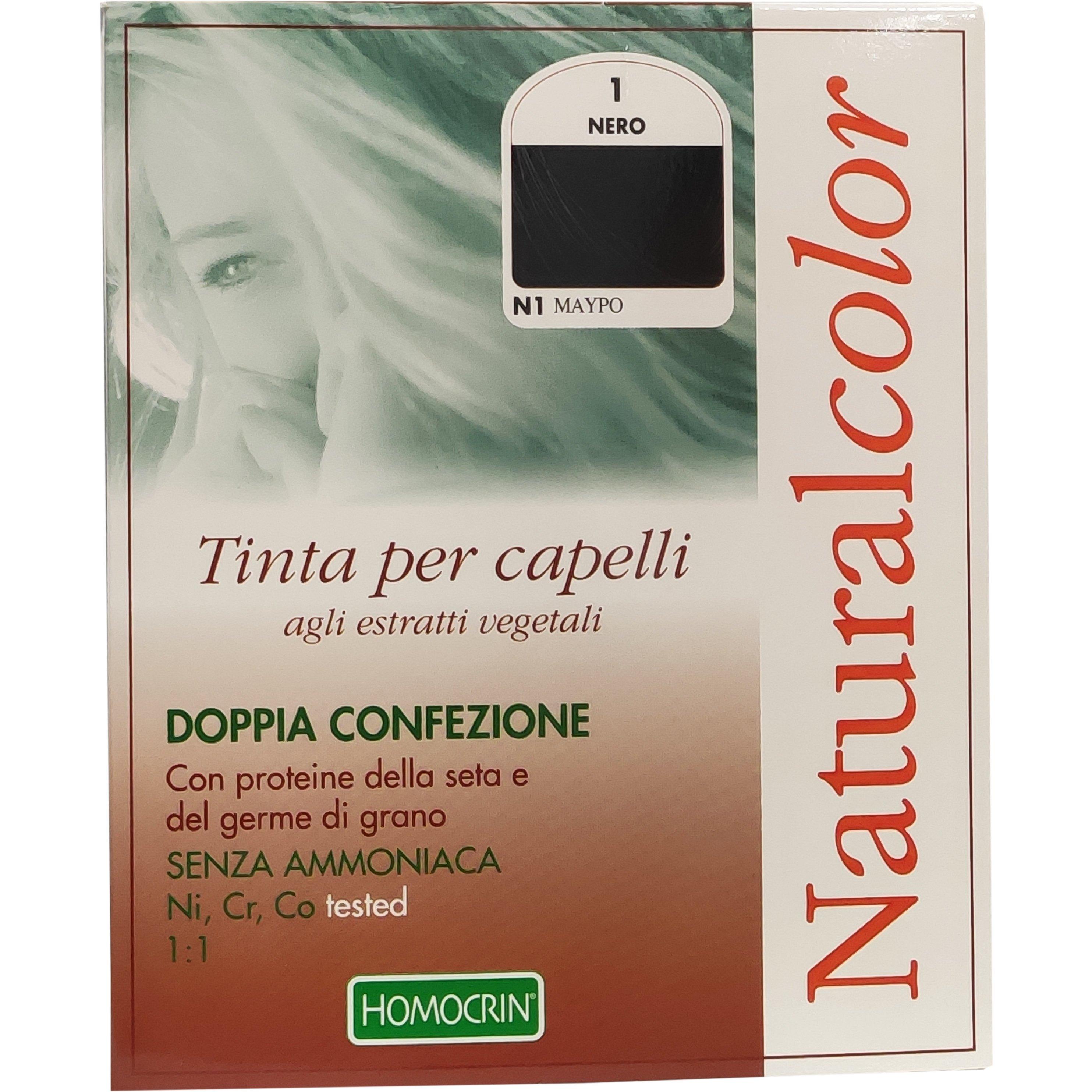 Specchiasol Homocrin Natural Color Φυτική Βαφή Μαλλιών Χωρίς Αμμωνία 1 Τεμάχιο – N1 Μαύρο