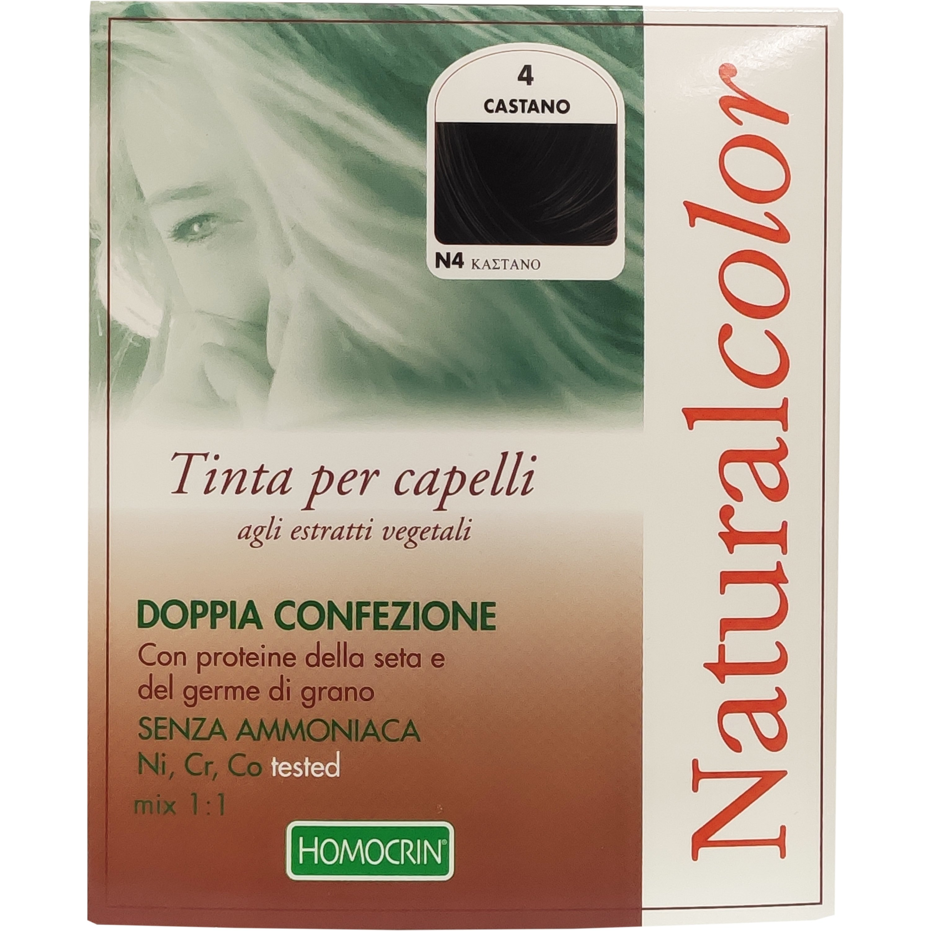 Specchiasol Homocrin Natural Color Φυτική Βαφή Μαλλιών Χωρίς Αμμωνία 1 Τεμάχιο – Ν4 Καστανό