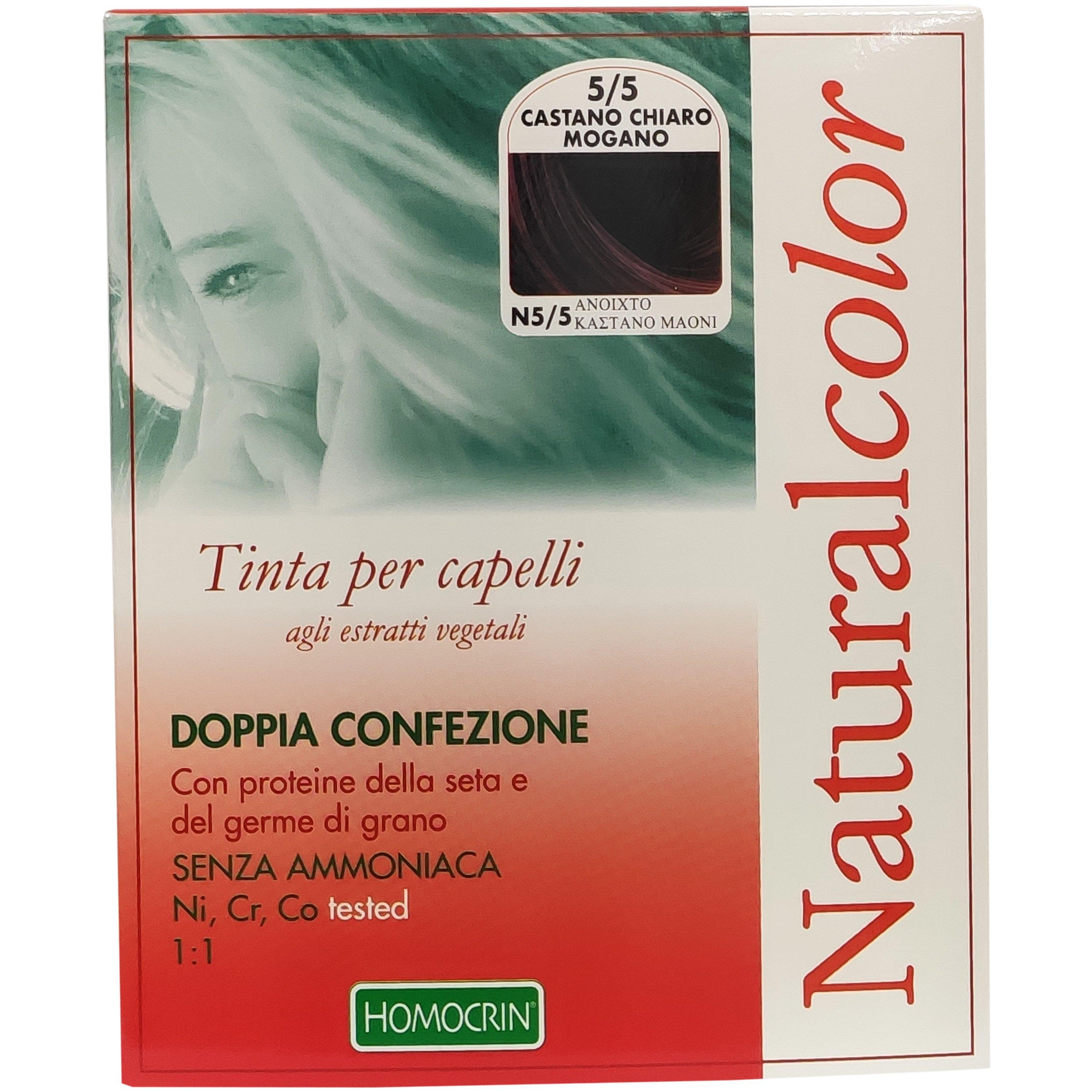 Specchiasol Homocrin Natural Color Φυτική Βαφή Μαλλιών Χωρίς Αμμωνία 1 Τεμάχιο – Ν5/5 Ανοιχτό Καστανό Μαονί