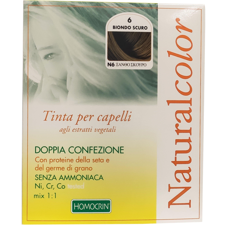 Specchiasol Homocrin Natural Color Φυτική Βαφή Μαλλιών Χωρίς Αμμωνία 1 Τεμάχιο – Ν6 Ξανθό Σκούρο