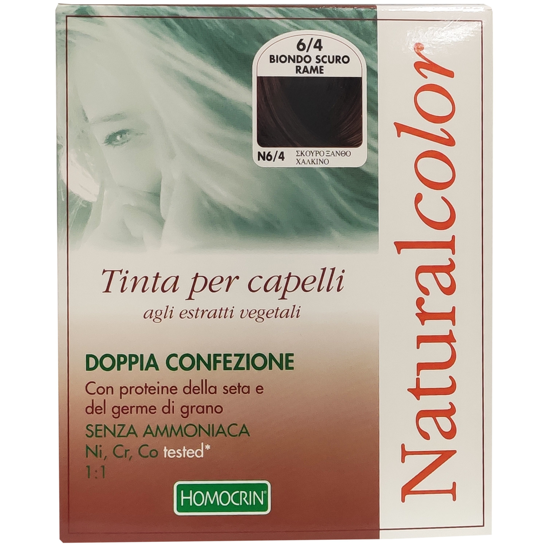 Specchiasol Homocrin Natural Color Φυτική Βαφή Μαλλιών Χωρίς Αμμωνία 1 Τεμάχιο – Ν6/4 Σκούρο Ξανθό Χάλκινο